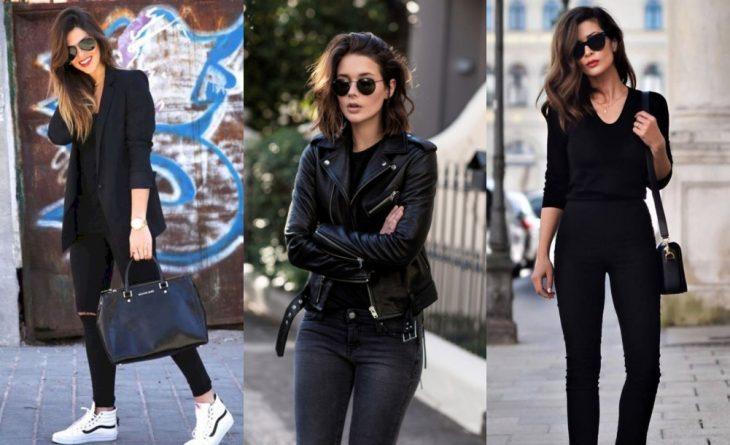 chica llevando ropa de colore negro