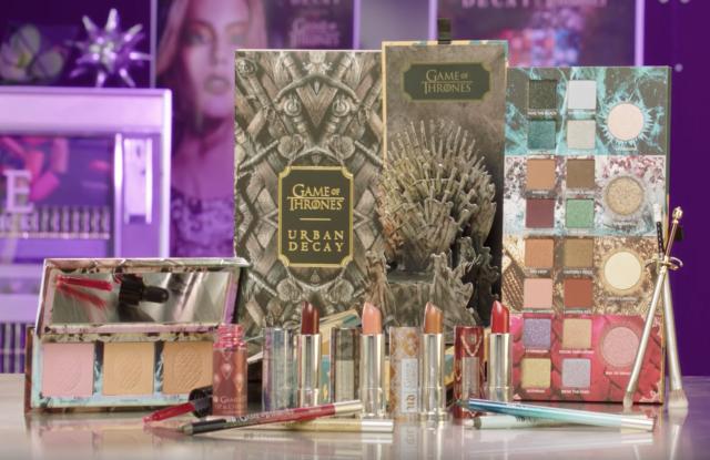 Colección completa de maquillaje inspirada en Game of Thrones de la marca de maquillaje Urban Decay
