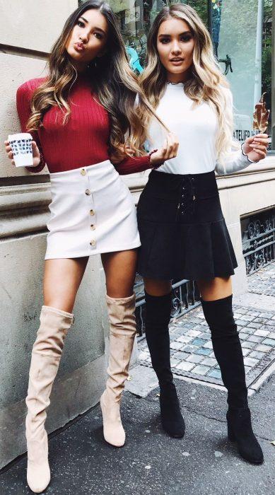 Mejores amigas con ropa que combina