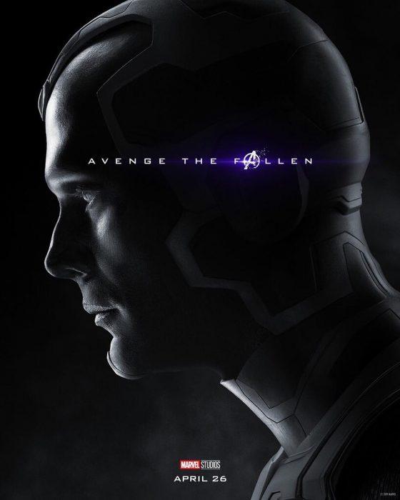 Hombre usando casco espacial, Vision, Paul Bettany, Póster oficial de la película Avengers Endgame