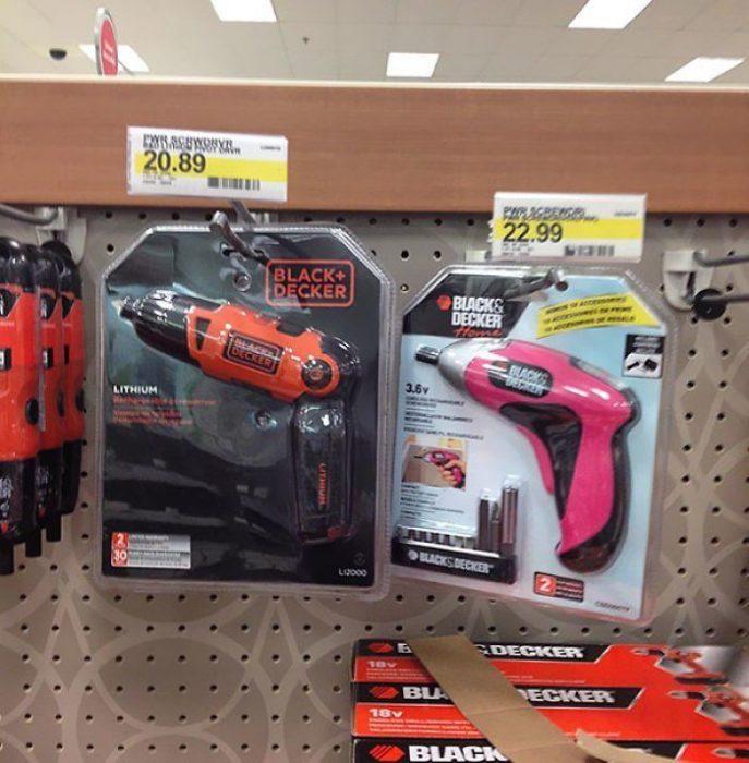 Productos ridículos e innecesarios que hacen distinción de género