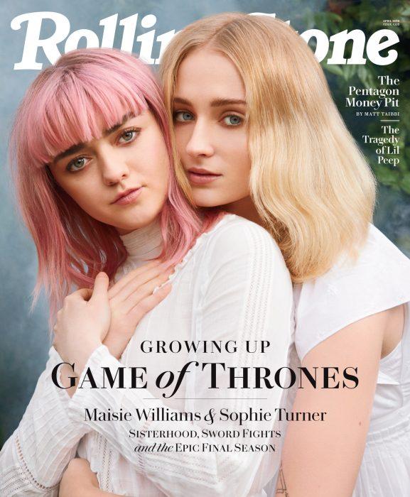 Portada de la revista Rolling Stone con las actrices Maisie Williams y Sophie Turner.