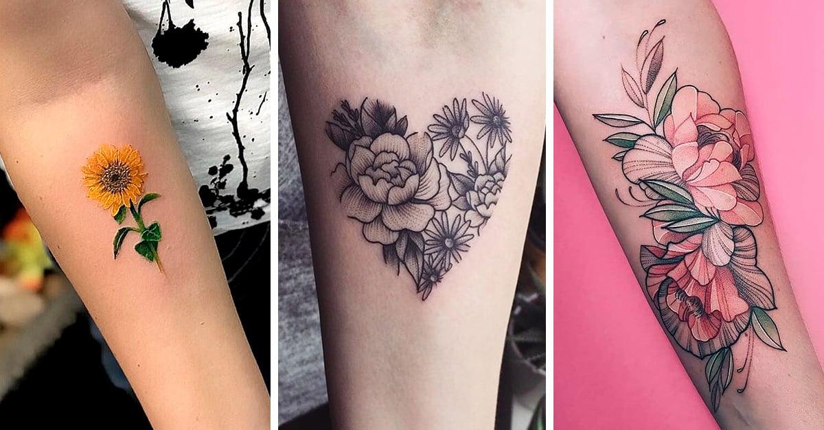 25 Tatuajes florales y su significado que querrás tatuarte