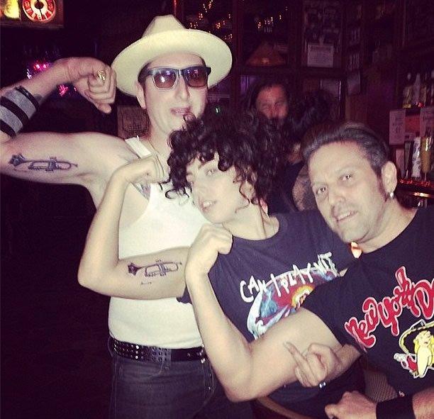 Tatuajes de Lady Gaga y Brian Newman