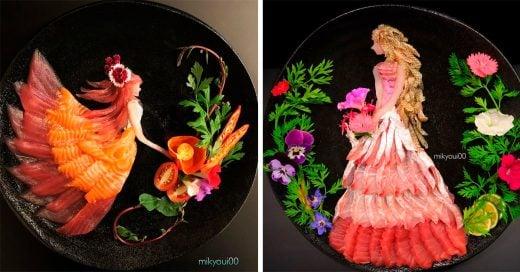 Crea hermosas piezas de arte usando deliciosos ingredientes de cocina