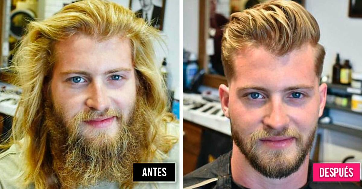 19 Hombres antes y después de cuidar su barba; se ven completamente diferentes