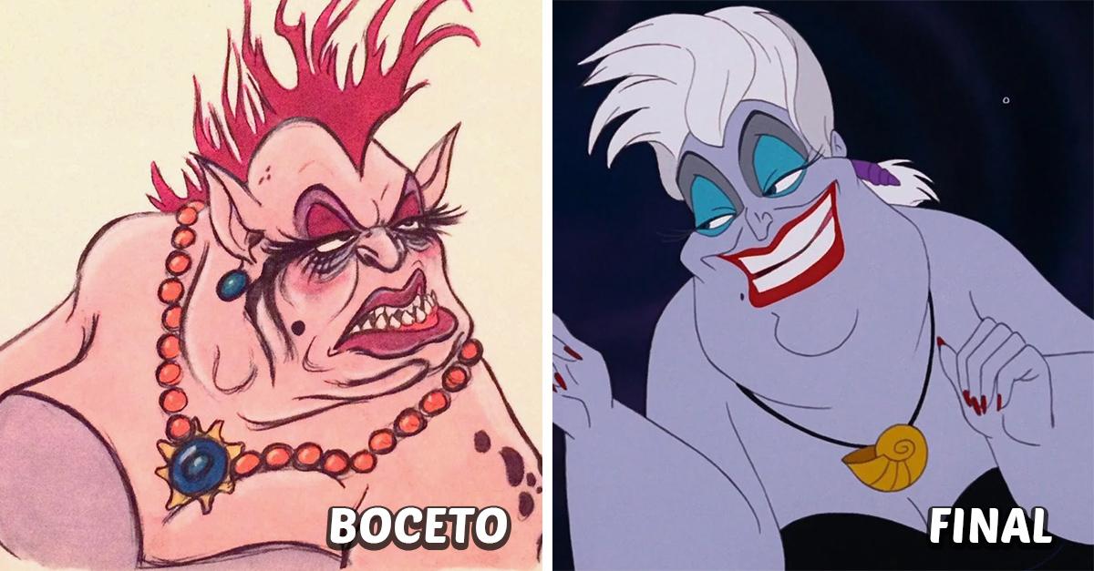 22 Personajes Disney antes y después de ser editados