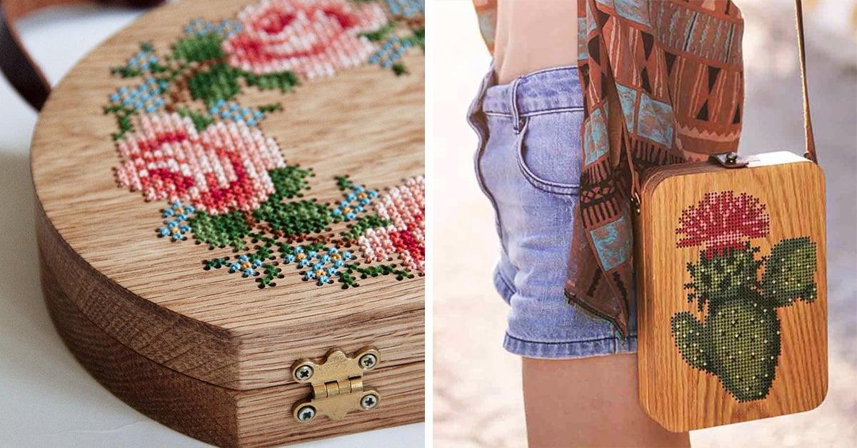 Bolsos de madera bordada que no pueden faltar en tu guardarropa