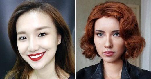 Utiliza maquillaje para transformarse en iconos pop
