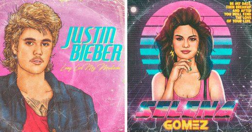 Artista crea portadas de álbum retro inspirado en los cantantes más famosos del momento