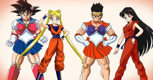 Ilustrador crea el mejor crossover la historia junto a 'Dragon Ball y Sailor Moon'