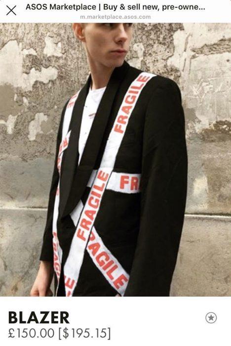 Hombre modelando para tienda en línea ASOS