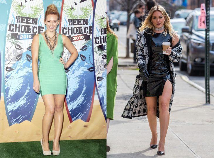 Hilary Duff cuando era joven vs actualmente