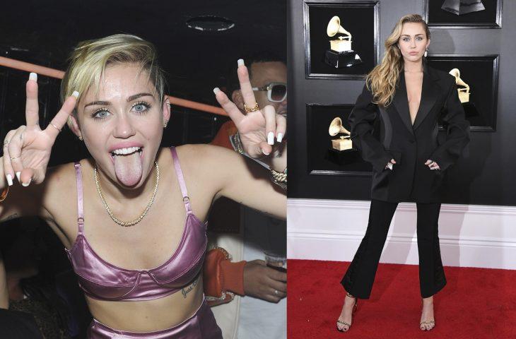 Miley Cyrus uando era joven vs actualmente