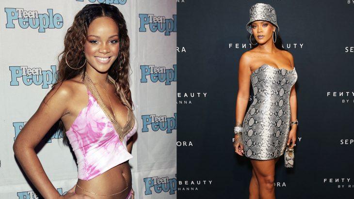 Rihanna cuando era joven vs actualmente