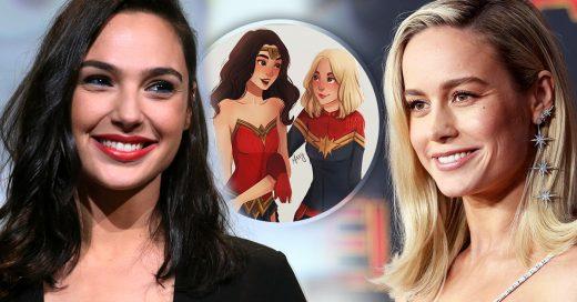 Gal Gadot felicita a Brie Larson y une los universos de Marvel y DC