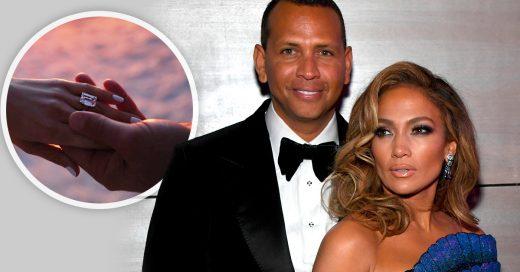 El caro anillo con el que Jennifer Lopez y Alex Rodríguez se comprometen