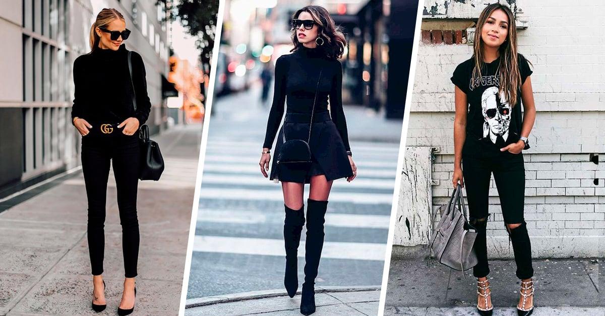 15 Maneras de usar outfits negros que impactaran a cualquiera que te vea