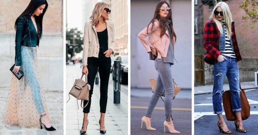 16 Looks casuales para combinar tus tacones y tus jeans