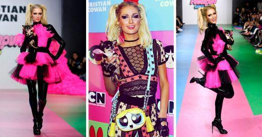 Paris Hilton se convirtió en una chica superpoderosa durante este desfile