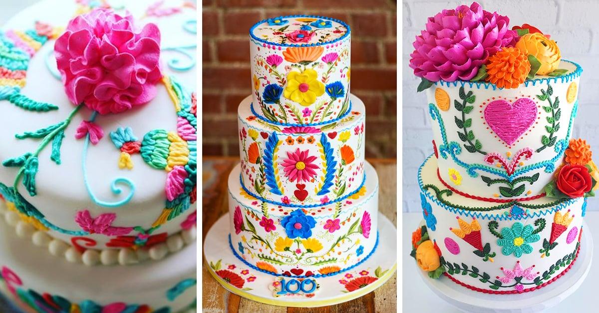 15 Deliciosos pasteles bordados que harán de tu fiesta un éxito
