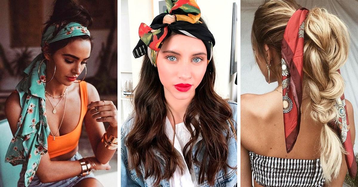15 Ideas de peinados con bandanas para cada día de la semana