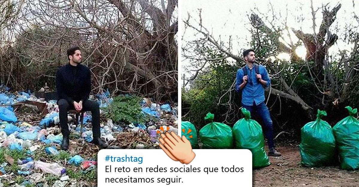 Jóvenes recogen basura gracias al nuevo reto viral: #TrashChallenge