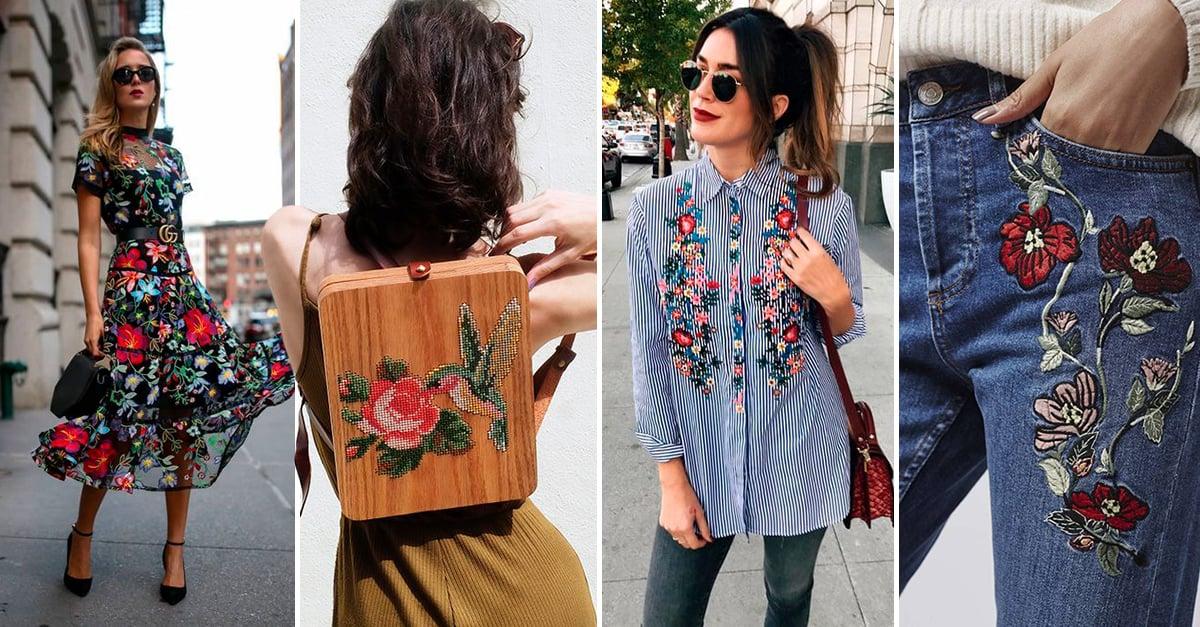 15 Prendas con bordados para un toque primaveral en tu armario