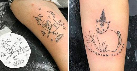 Tatuadora brasileña no sabe dibujar, aun así es todo un éxito