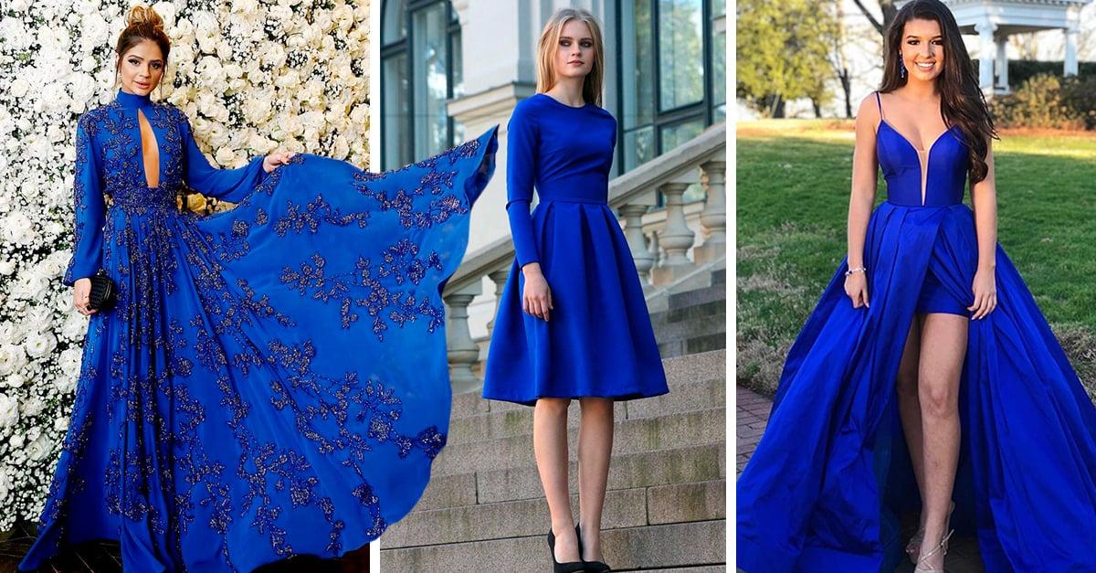15 Bonitos vestidos azul royal que son perfectos para tu graduación