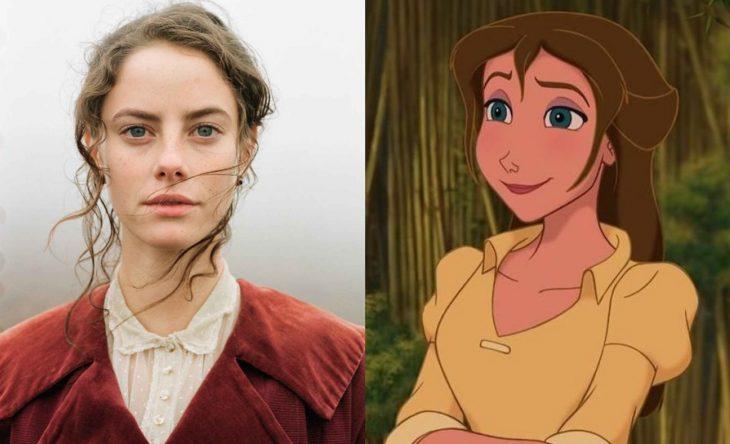Princesas de películas Disney si fueran famosas de la vida real, actriz Kaya Scodelario como Jane de la película Tarzán