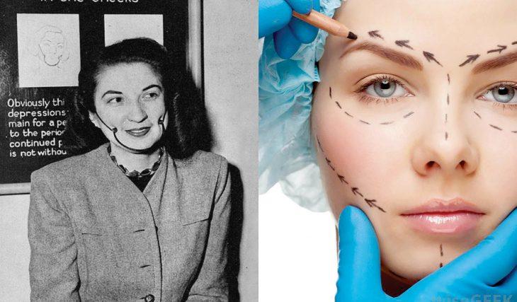 Artículos viejos y nuevos de belleza; cirugías plásticas antiguas y modernas