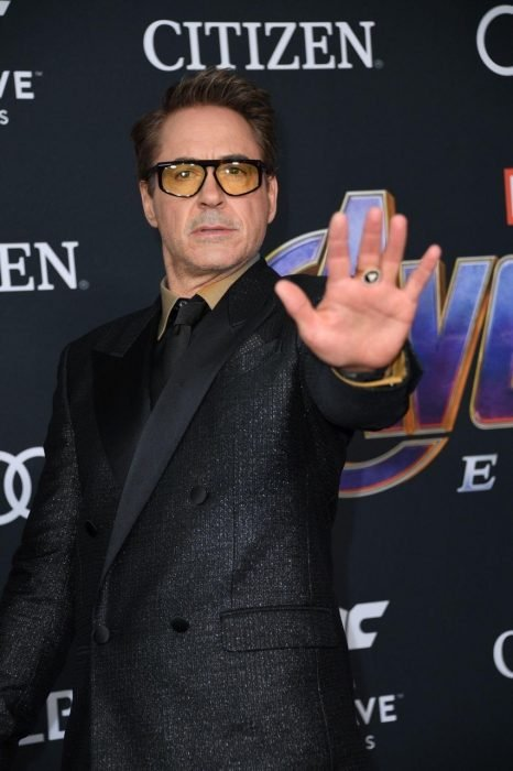 Robert Downey Jr. que interpreta a Iron man en la premiere de la película de Avengers: Endgame en Los Angeles