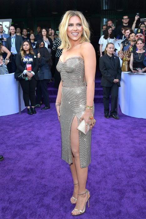 Scarlett Johansson que interpreta a a viuda Negra en la premiere de la película de Avengers: Endgame en Los Angeles