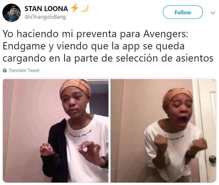 Memes de Cinépolis y Cinemex en Twitter sobre preventa de boletos para Avengers: endgame, meme de niña tratando de explicar