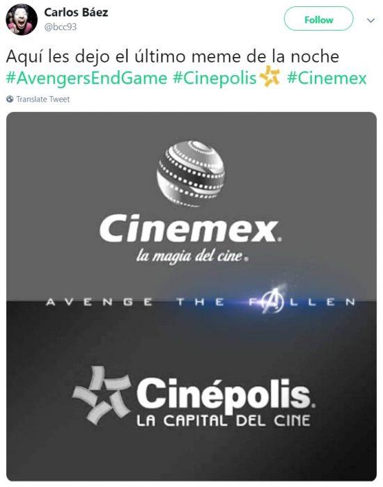 Memes de Cinépolis y Cinemex en Twitter sobre preventa de boletos para Avengers: endgame