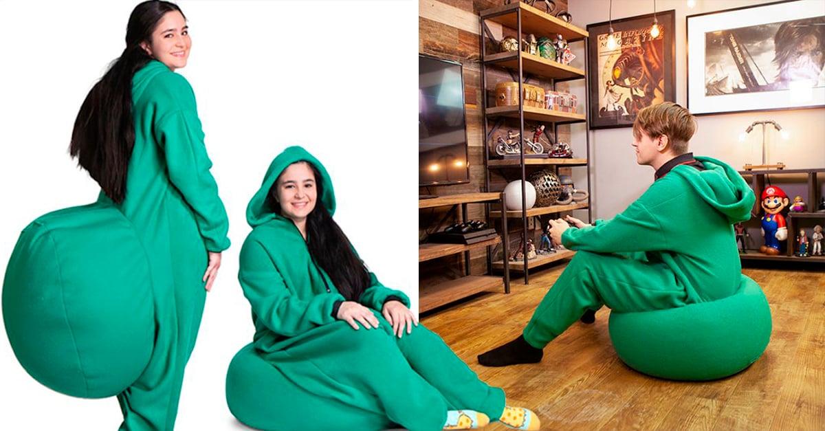 Portada pijama con puff integrado