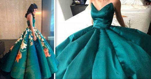COVER Confecciona su propio vestido de graduación y el resultado es hermoso