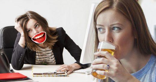 Portada Fingir una sonrisa en el trabajo conlleva a problemas de alcoholismo