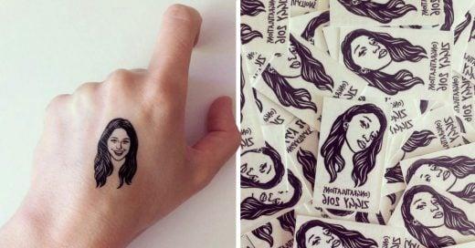 COVER Tatuaje temporal de la cara de tu mejor amiga