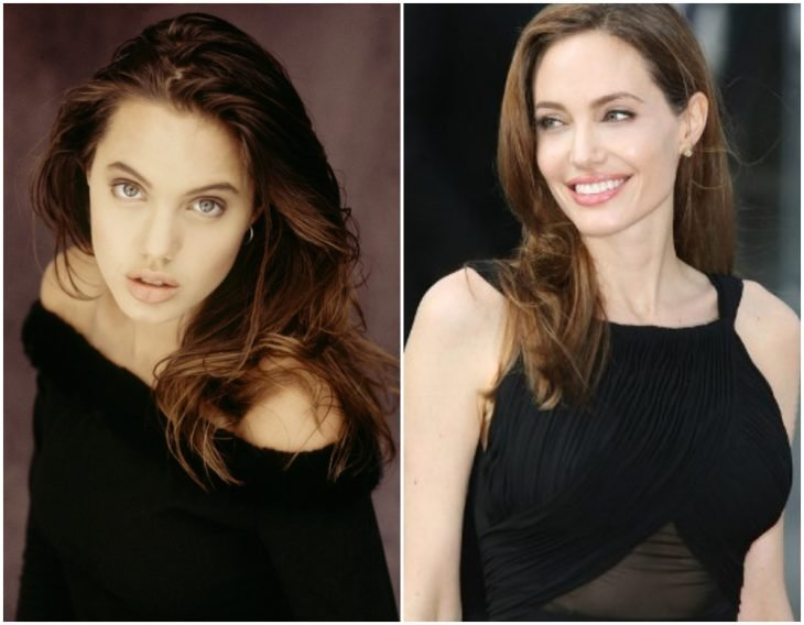 Angelina Jolie before and after having a bust