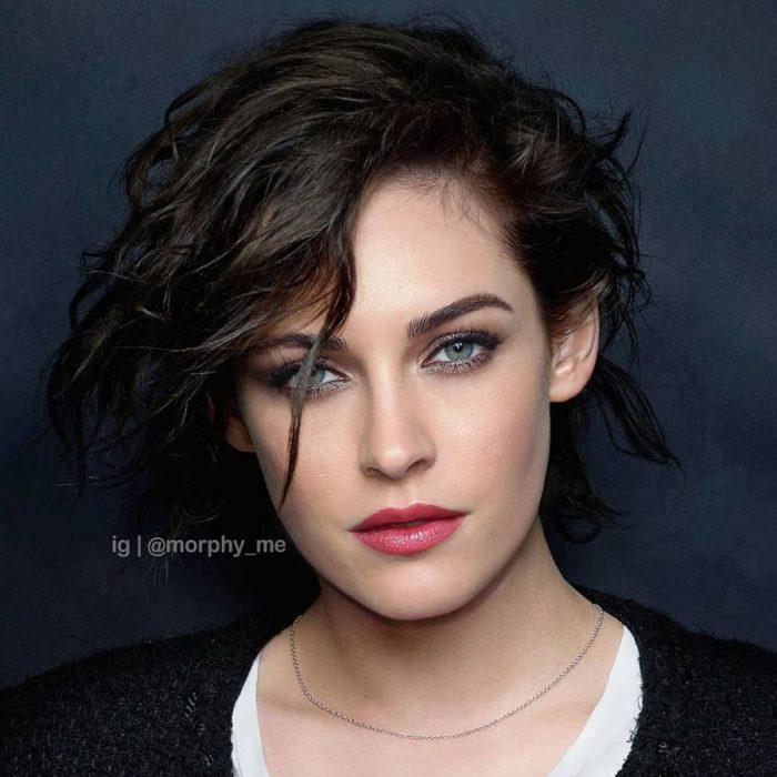 Chica con corte bob peinado en ondas ligeras, Kristen Stewart, Megan Fox, Morphy_Me