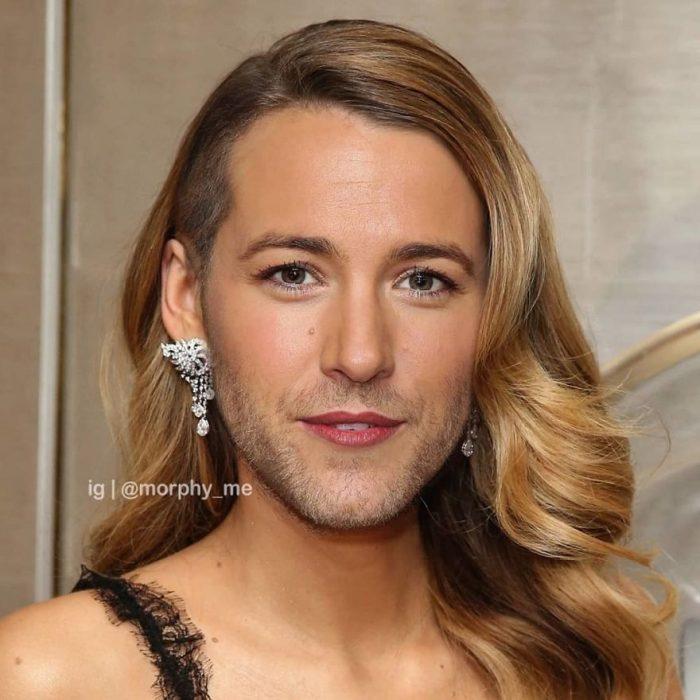 Chica llevando pendientes grandes en color plata, Blake Lively, Ryan Reynolds, Morphy_Me