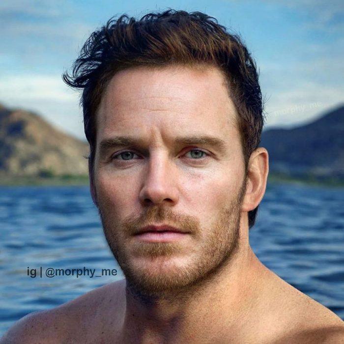 Chico dentro de un lago, Chris Pratt, Michael Fassbender, Morphy_Me