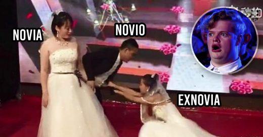 COVER Exnovia se viste de blanco para interrumpir la boda de su ex