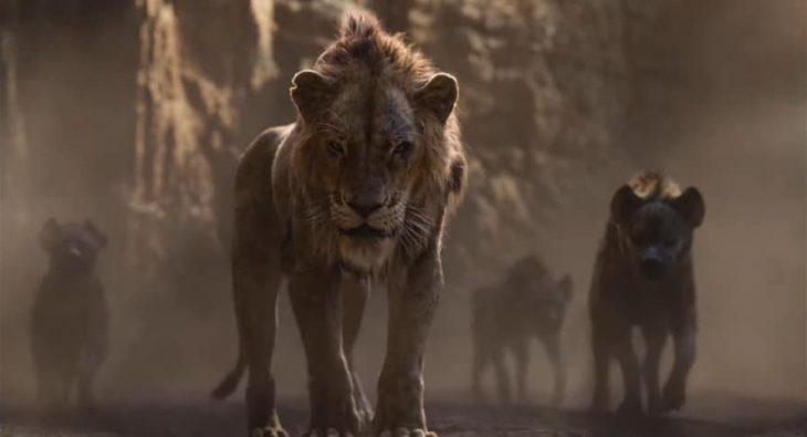 Escena de la nueva cinta de live action del Rey León presentando al personaje de Scar