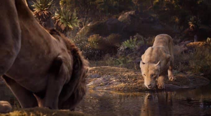 Escena del trailer live action del Rey León con Simba y Nala