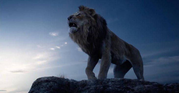 Escena del trailer live action del Rey León con Simba