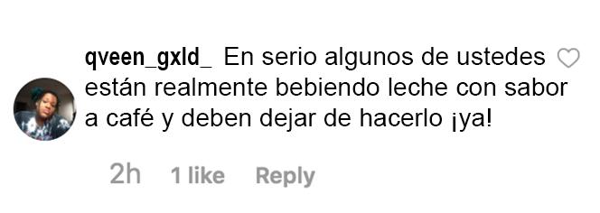 Opinión de un usuario de Instagram sobre el café