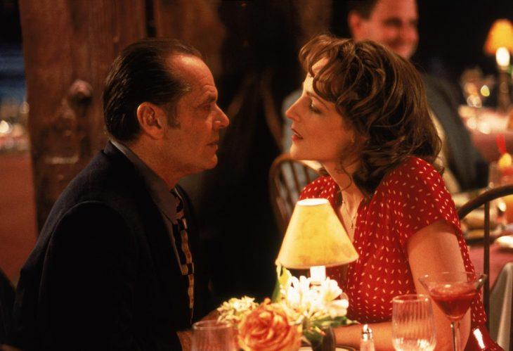 El actor Jack Nicholson y la actriz Helen Hunt en la cinta Mejor Imposible